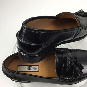 French Shriner Soft-Flex Black Loafers/ 8 1/2 W